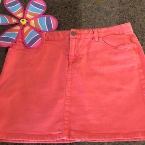 Tommy Hilfiger-denim coral skirt